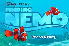 2 in 1 - Finding Nemo & The Incredibles (E)(Independent) Title Screen