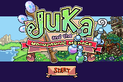 Juka and the Monophonic Menace (E)(Trashman) Title Screen