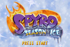 2 in 1 - Spyro - Season of Ice & Spyro - Season of Flame (U)(Independent) Title Screen