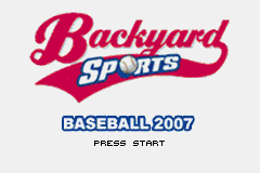 Backyard Sports Baseball 2007 (U)(Trashman) Title Screen