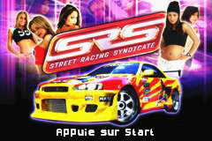SRS - Street Racing Syndicate (E)(Rising Sun) Title Screen