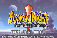 Summon Night - Swordcraft Story (U)(Independent) Title Screen
