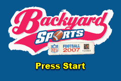 Backyard Sports Football 2007 (U)(Rising Sun) Title Screen