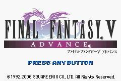 Final Fantasy V Advance (J)(WRG) Title Screen