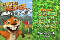 Over the Hedge - Hammy Goes Nuts (U)(Rising Sun) Title Screen