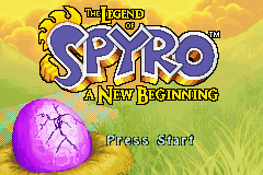The Legend of Spyro - A New Beginning (U)(Rising Sun) Title Screen
