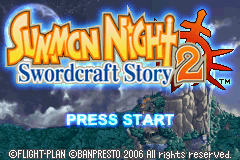 Summon Night - Swordcraft Story 2 (U)(Independent) Title Screen