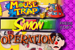 3 in 1 - Mousetrap & Simon & Operation (U)(Independent) Title Screen