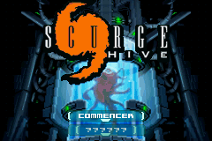 Scurge Hive (E)(Rising Sun) Title Screen