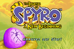 The Legend Of Spyro - A New Beginning (E)(Rising Sun) Title Screen