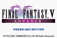 Final Fantasy V Advance (U)(Independent) Title Screen
