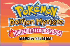 Pokemon Mystery Dungeon - Red Rescue Team (E)(Rising Sun) Title Screen