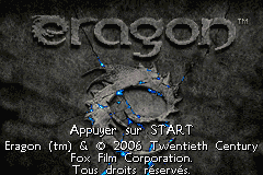 Eragon (E)(Rising Sun) Title Screen