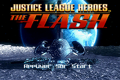 Justice League Heroes - The Flash (E)(Rising Sun) Title Screen