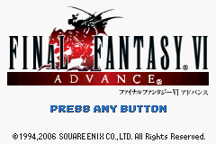Final Fantasy VI Advance (J)(WRG) Title Screen
