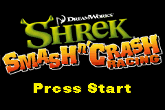 Shrek - Smash n' Crash Racing (U)(Rising Sun) Title Screen