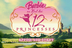 Barbie in the 12 Dancing Princesses (E)(Sir VG) Title Screen