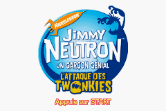 Jimmy Neutron - L'Attaque des Twonkies (F)(Independent) Title Screen