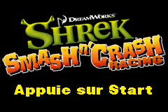 Shrek Smash n' Crash Racing (E)(sUppLeX) Title Screen