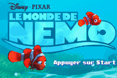 2 in 1 - Finding Nemo & Finding Nemo The Continuing Adventures (E)(Independent) Title Screen