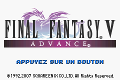 Final Fantasy V Advance (E)(Eternity) Title Screen