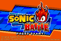 2 in 1 - Sonic Battle & ChuChu Rocket! (E)(Independent) Title Screen
