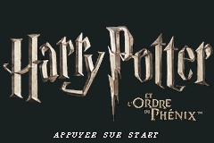 Harry Potter And The Order Of The Phoenix (U)(sUppLeX) Title Screen