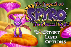 The Legend of Spyro - The Eternal Night (U)(OMGba) Title Screen