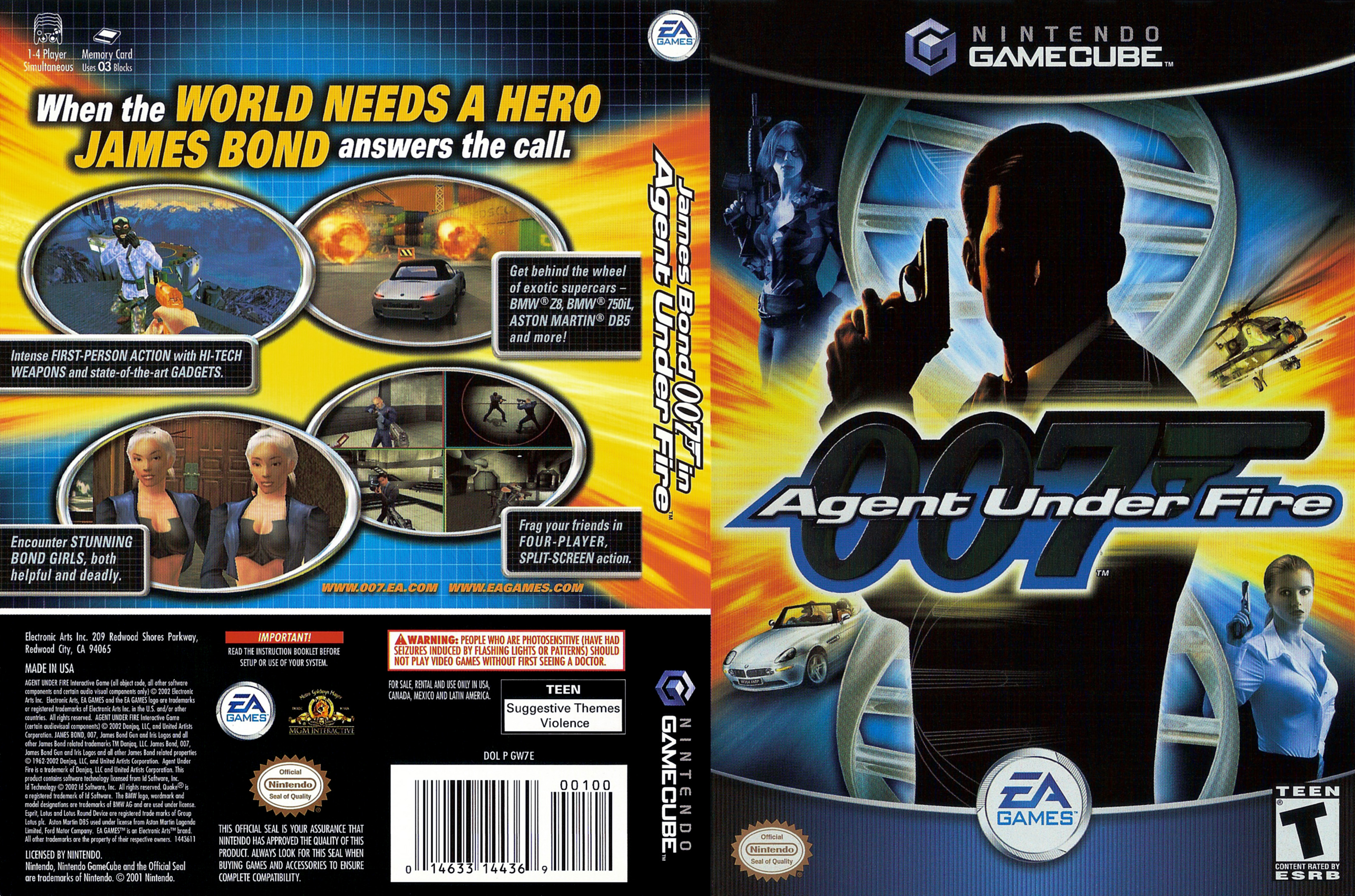 007 Agent Under Fire Cover - Click for full size image