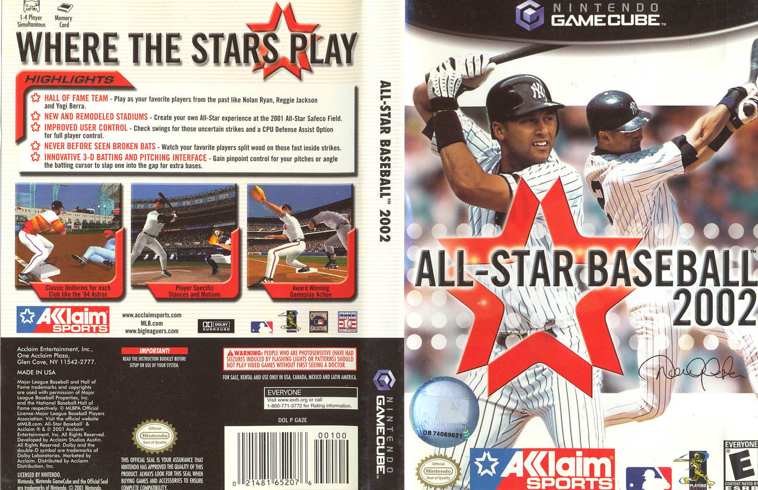 an analysis of the video game all star baseball 2002 From the all star game to the end of the season, the white sox ranked 1st in batting averages, 2nd in slugging percentages, and 3rd in on base percentage even further, in 2004, walker led six players to personal best years and the team set a franchise record of 242 homeruns, the 9th highest total in mlb history.