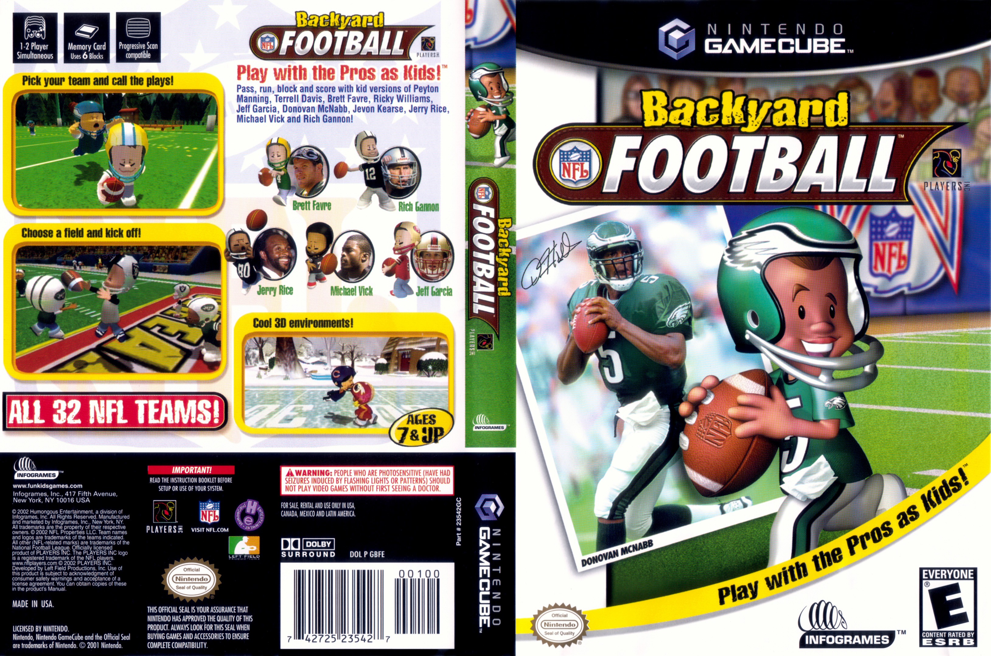 Backyard Football Video Game backyard football iso < gcn isos | emuparadise