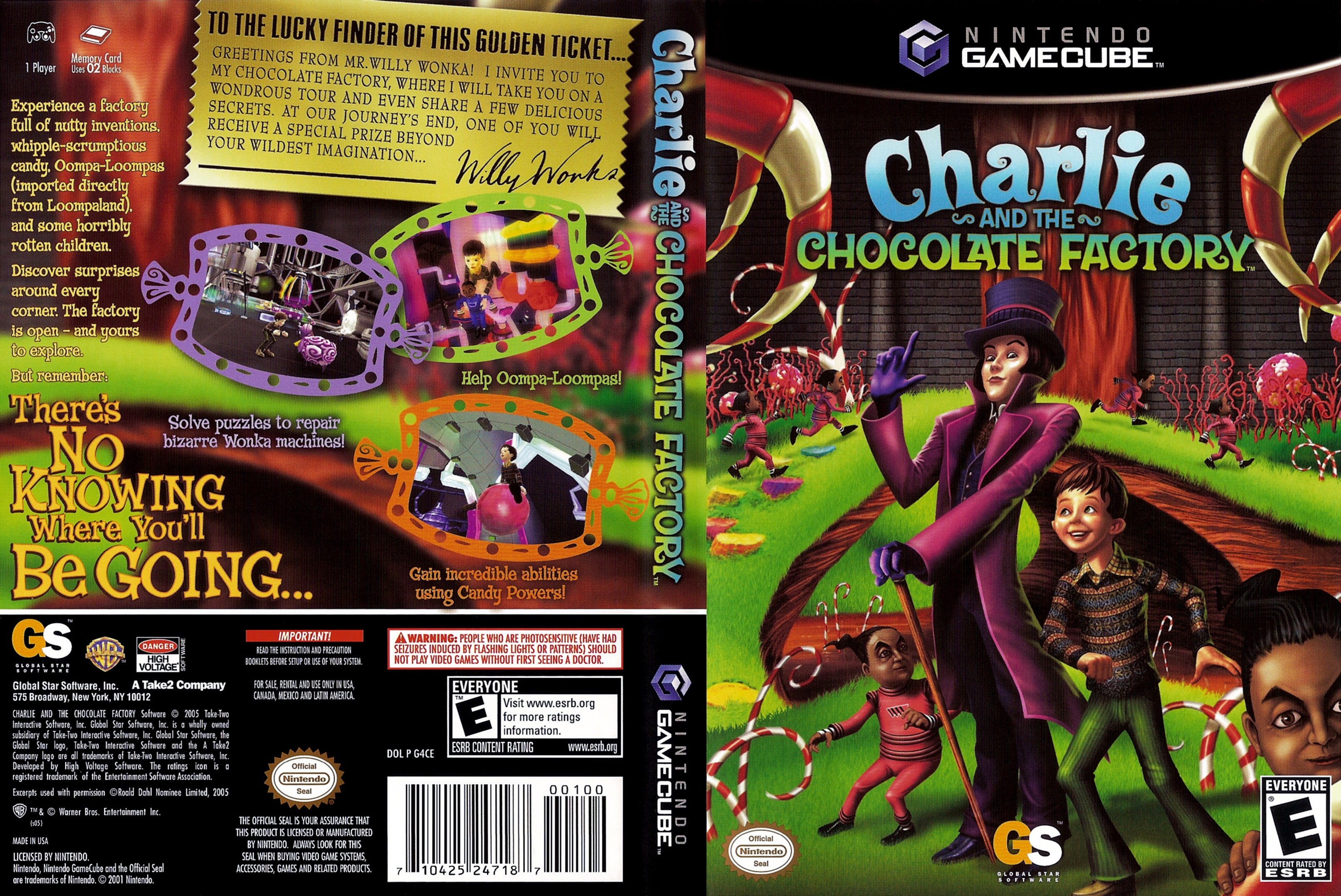 Charlie and the Chocolate Factory ISO < GCN ISOs | Emuparadise