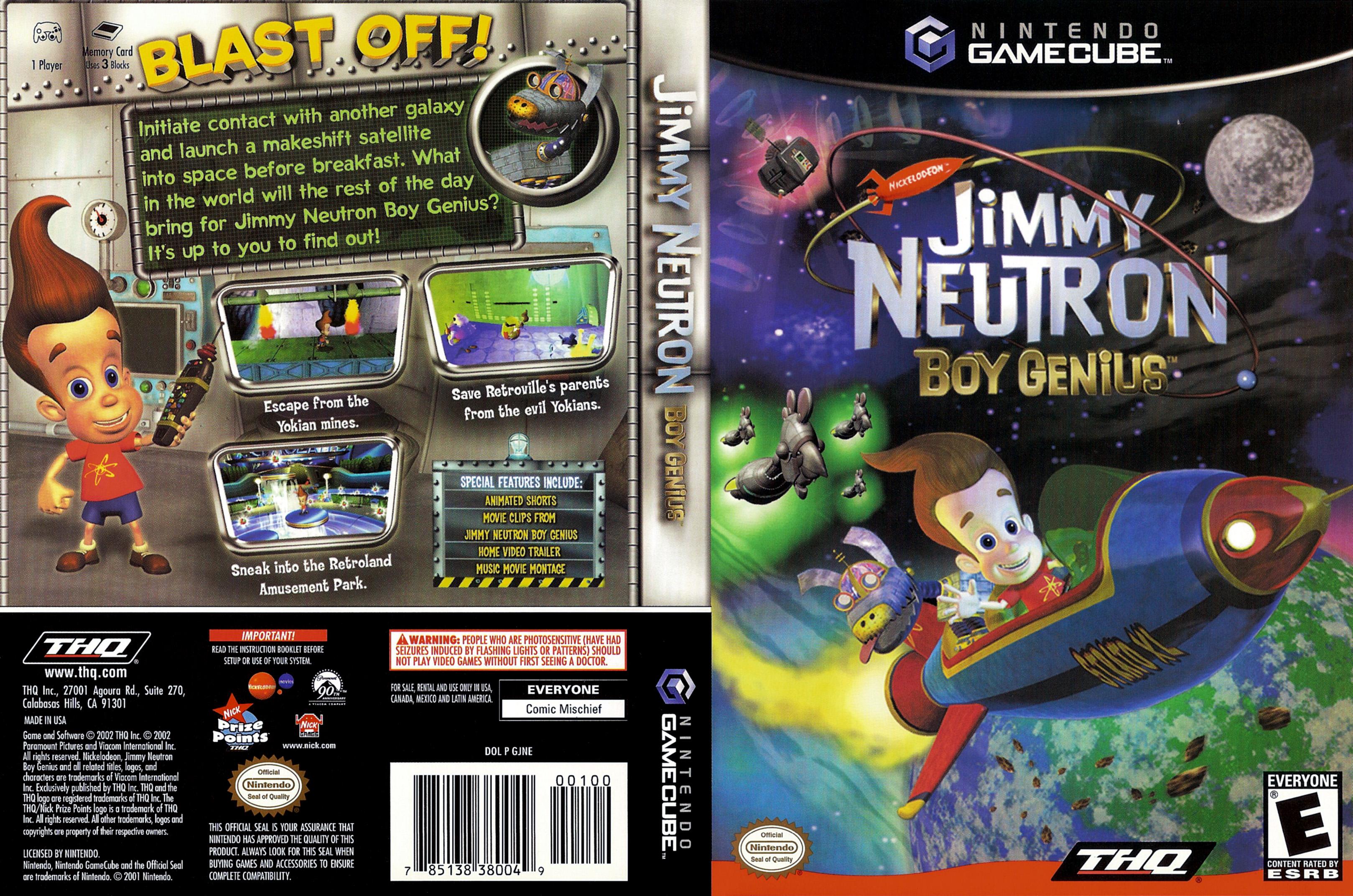 jimmy neutron boy genius iso gcn isos emuparadise