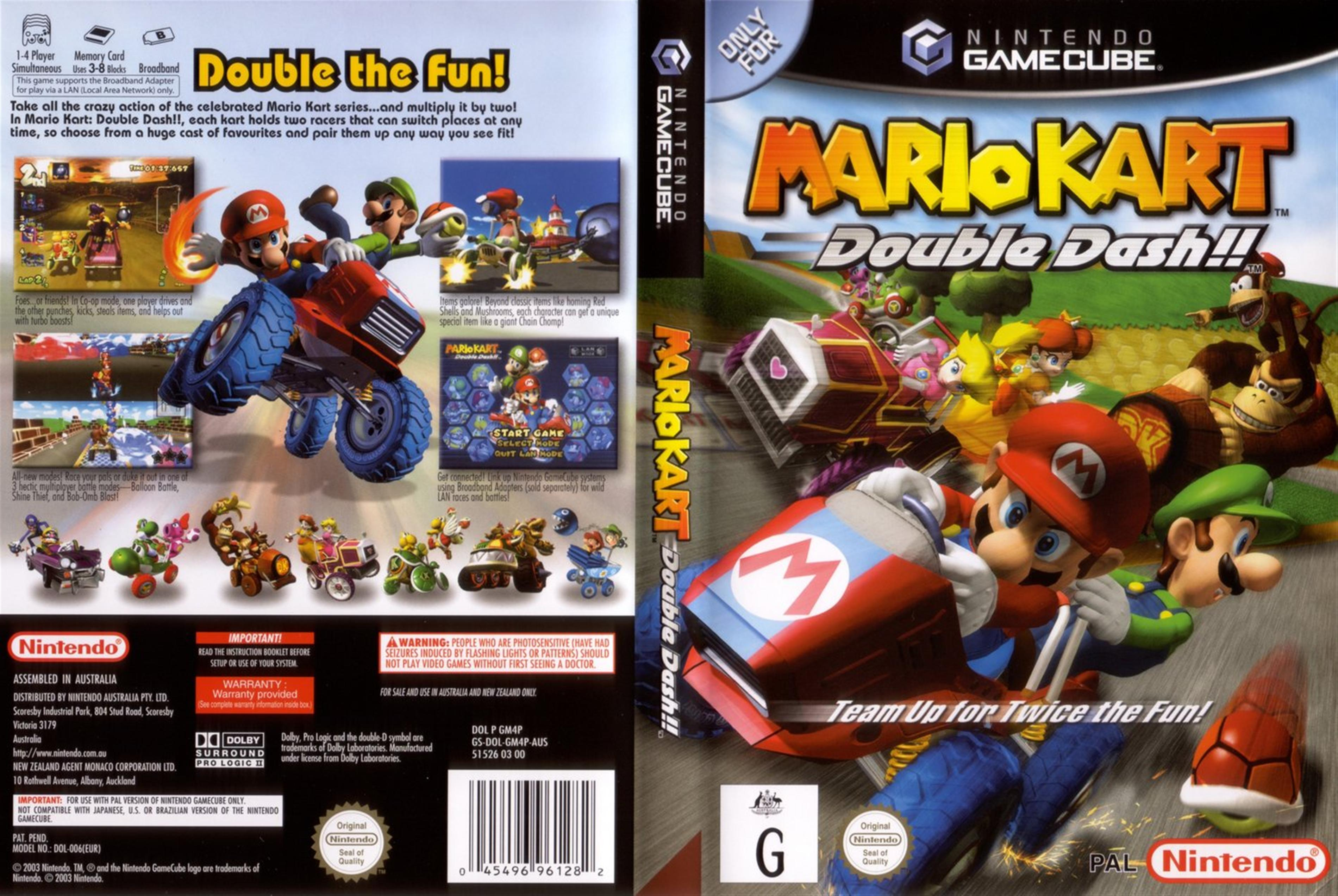 Mario Kart Double Dash Cover - Click for full size image