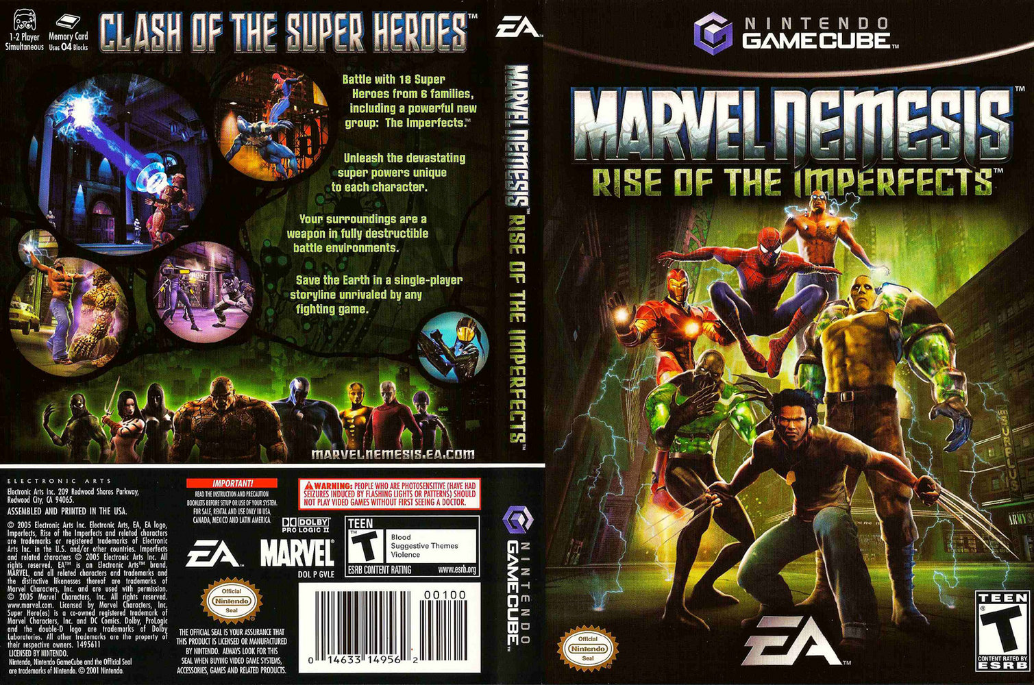Marvel Nemesis Rise of the Imperfects ISO < GCN ISOs | Emuparadise