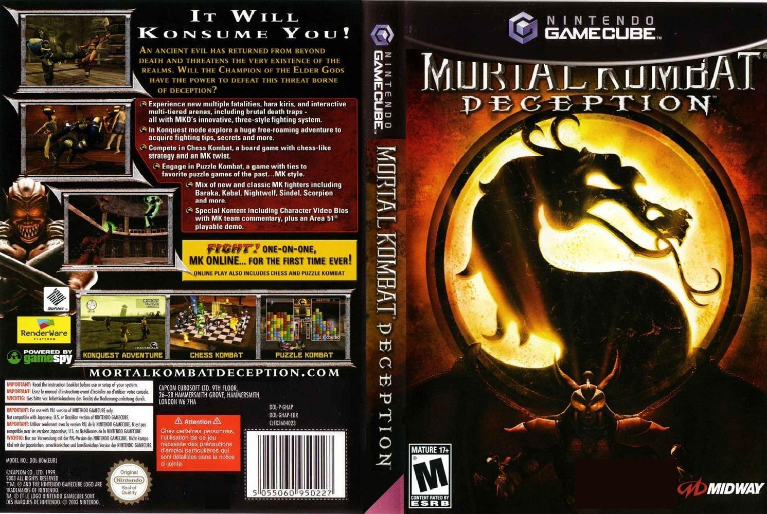 mortal kombat deception pc download rar