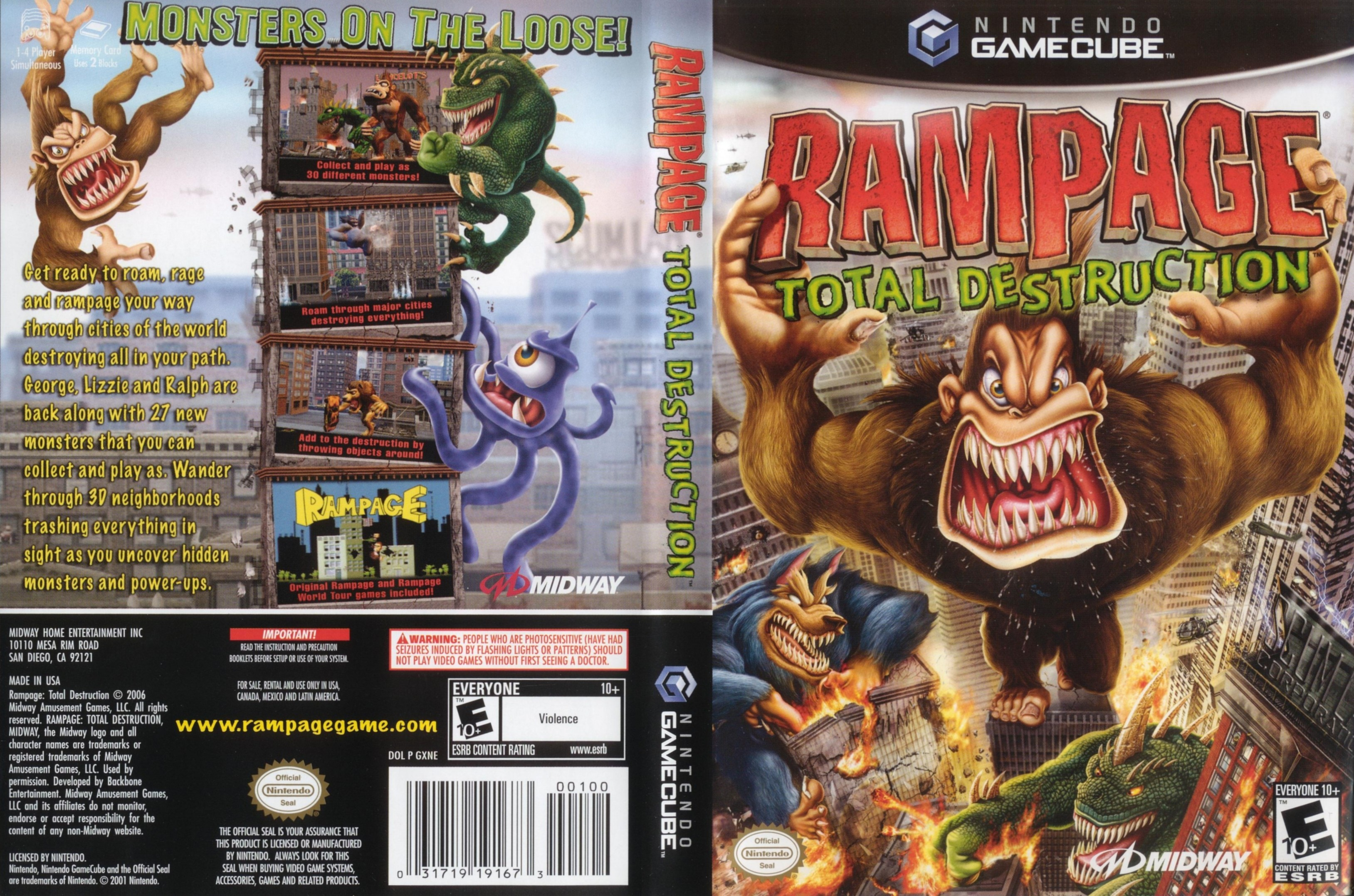Rampage Total Destruction ISO < GCN ISOs | Emuparadise