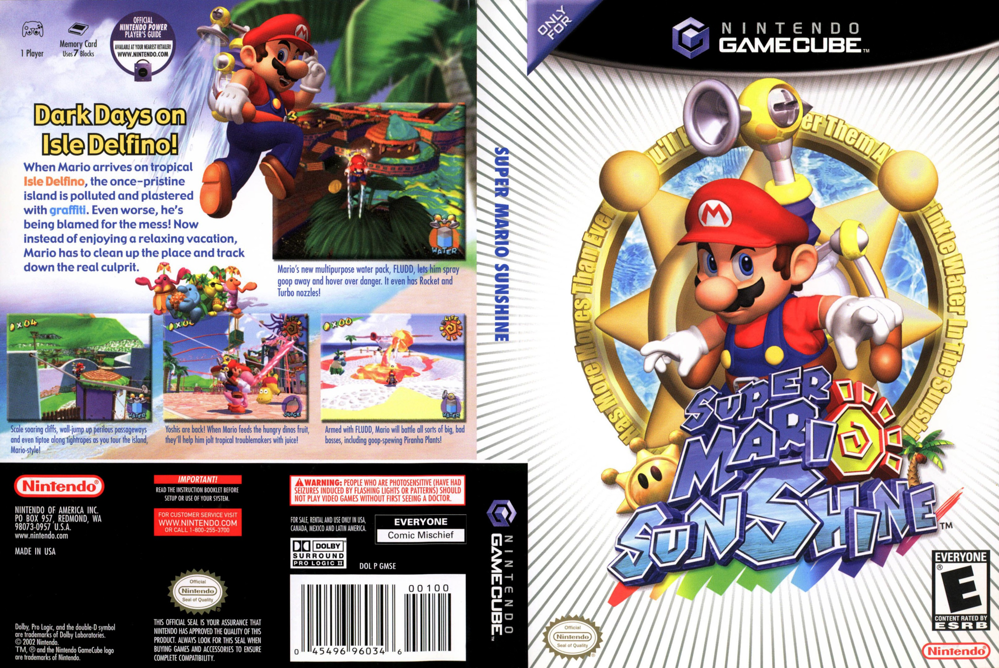 Super Mario Sunshine ISO < GCN ISOs | Emuparadise