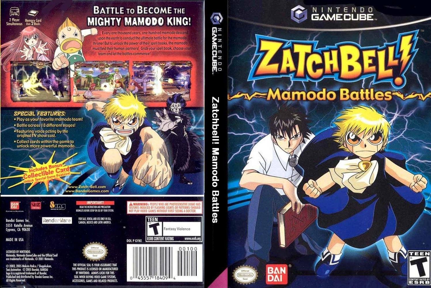 zatch bell mamodo fury para pc