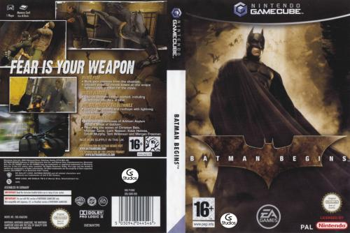 Batman Begins (Europe) (En,Fr,De,Es,Nl) Cover - Click for full size image