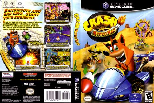 Crash Nitro Kart (Europe) Cover - Click for full size image