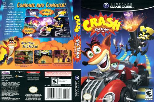 Crash Tag Team Racing (France) Cover - Click for full size image