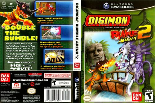 Digimon Rumble Arena 2 (Europe) (En,Fr,De,Es) Cover - Click for full size image