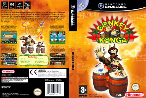 Donkey Konga Cover - Click for full size image