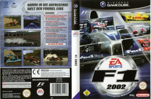F1 2002 (Europe) (En,Fr,De,It) Cover - Click for full size image