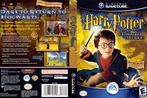 Harry Potter and the Chamber of Secrets (Europe) (En,Fr,De) Cover - Click for full size image