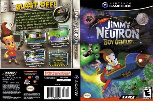 Jimmy Neutron Boy Genius Cover - Click for full size image