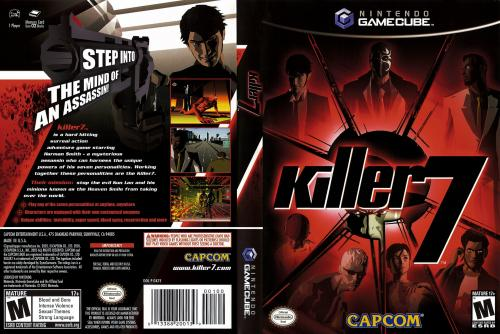 Killer 7 (Europe) (En,Fr,De) (Disc 1) Cover - Click for full size image