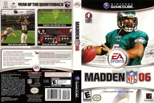 Madden NFL 06 (Europe) Cover - Click for full size image