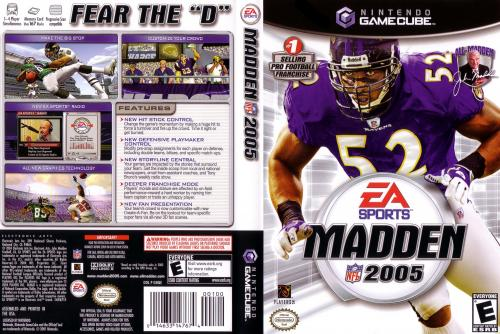 Madden NFL 2005 Cover - Click for full size image